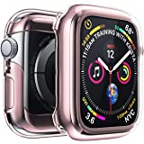 Compatible with Apple Watch Screen Protector Series 4 44mm, Built in TPU Case Anti-Scratch iwatch All-Around Protective Case Ultra-Thin Cover Apple Watch Series 4 (Pink-44mm)
