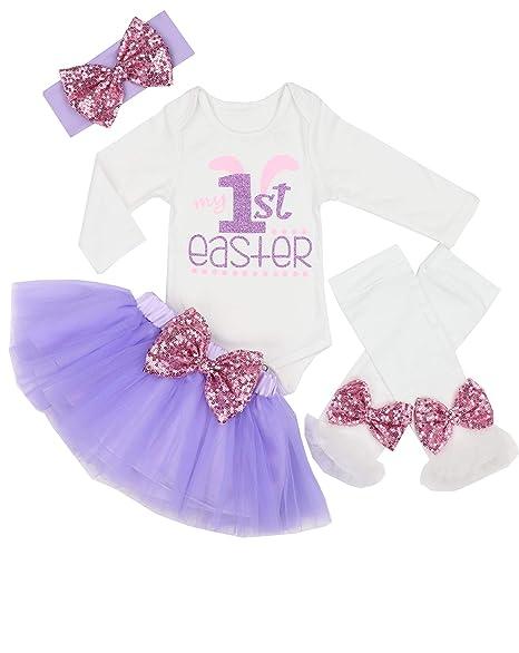 Amazon.com: Vestido largo de tutú para bebés y niñas, 4 ...
