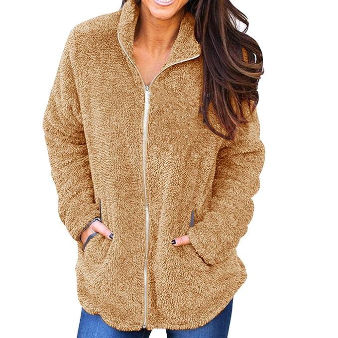 ... Elegant Sudadera Jersey de Manga Larga con Cremallera Invierno Slim Fit Chaqueta de algodón Jacket Pullover Outwear: Amazon.es: Ropa y accesorios