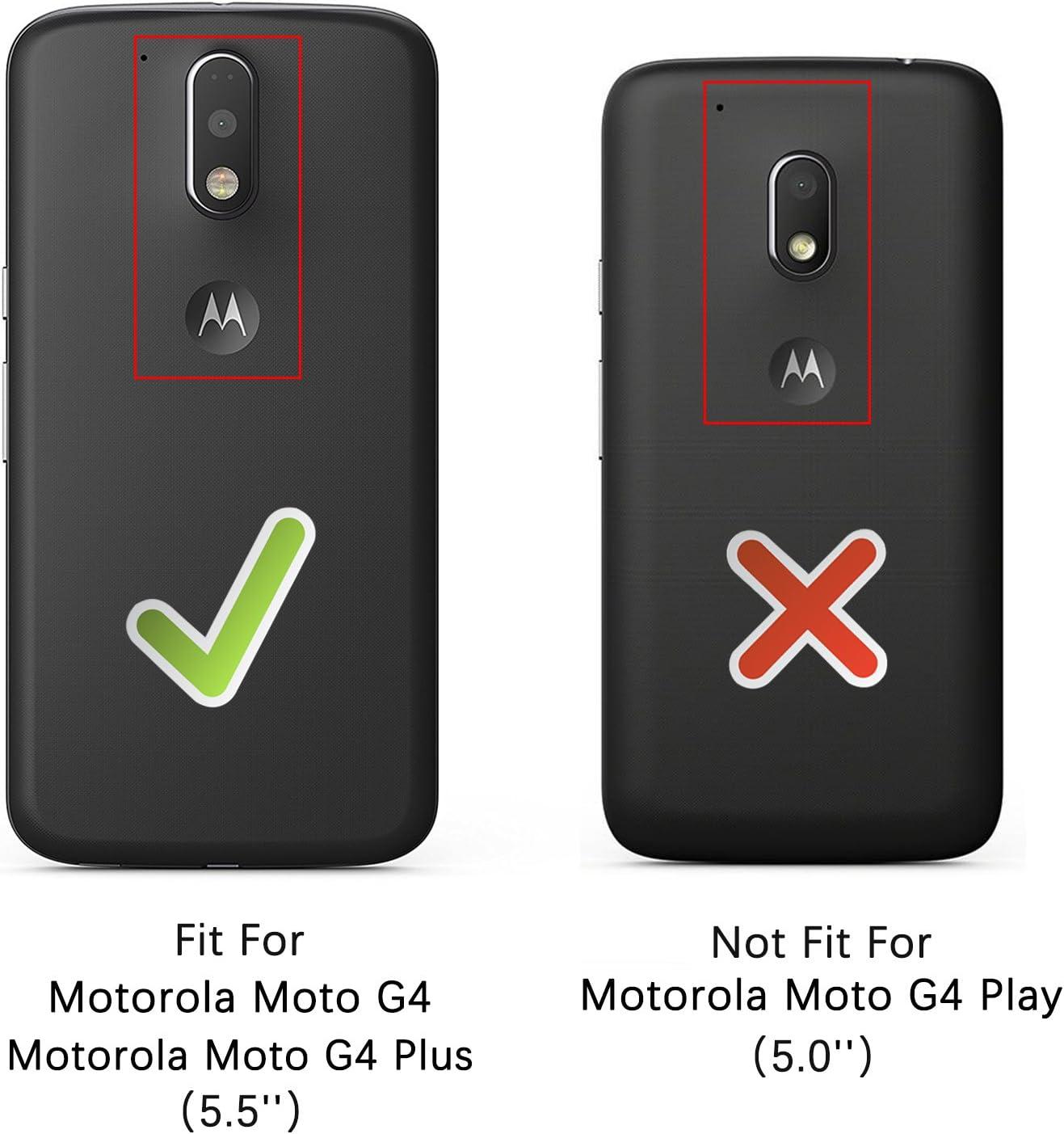 Epxee Funda para Moto G4/G4 Plus, Silicona Shock-Absorción Case ...