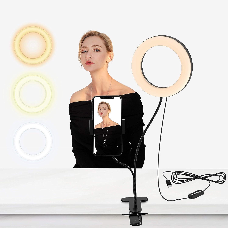 Led Selfie Ringlicht 6 Zoll Live Licht Ringleuchte Mit Kamera