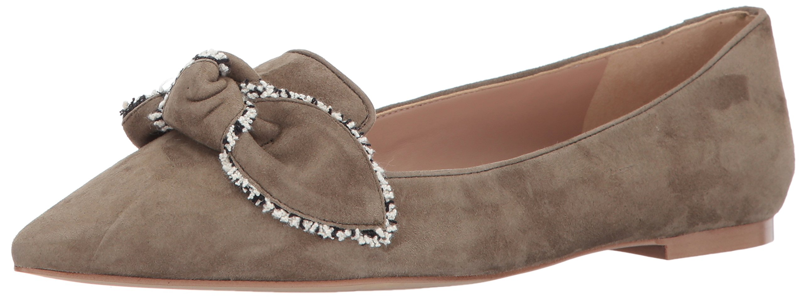 Sam Edelman Women's Rochester Ballet Flat, Moss Green Suede, 6.5 Medium US
