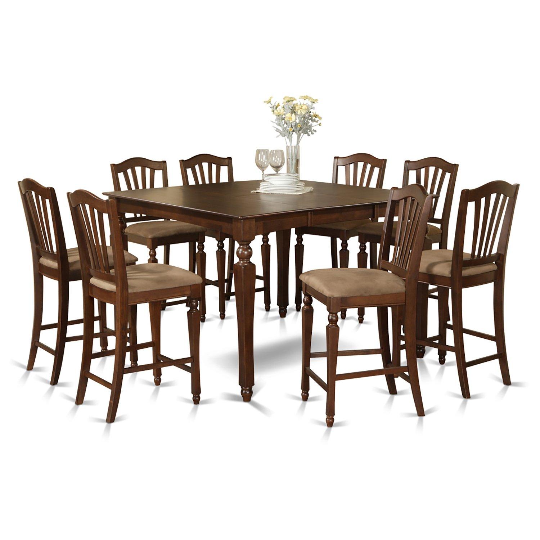 Amazon.com: East West Furniture chel9-mah-c 9-Piece ...