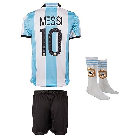 SVB Argentina Mundial 18 y Copa America 16 # 10 Messi – Niños Pantalones y Camiseta