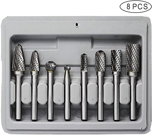 4x 6 Inch Carbide Rotary Tool Long Reach Burr Bit 1//4 Inch Shank Part Set Kit