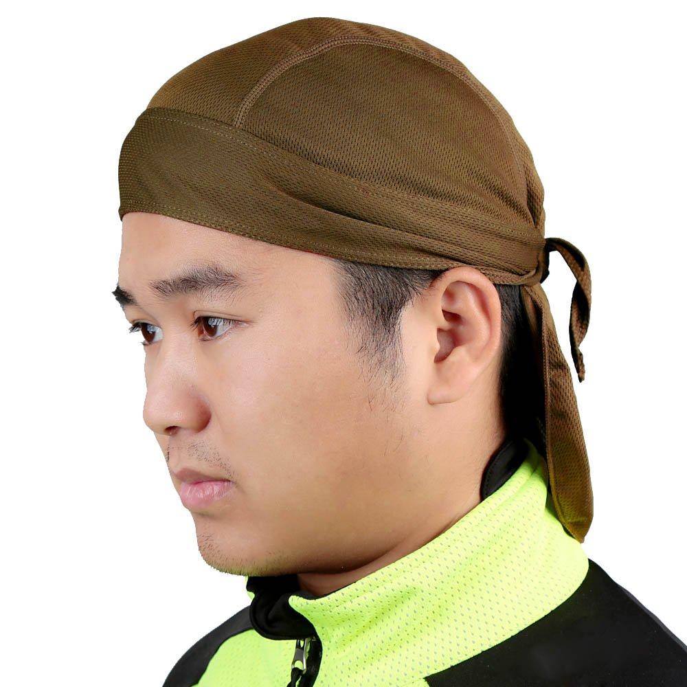 Bandana Headbands Sweat Wicking Beanie Hat Skull Cap Head Wrap Helmets Beanie