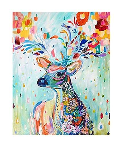 Amazon Com Vivian Diy Handmade Diamond Painting Deer Gift Diamond