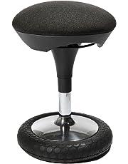 Topstar Sitness 20, ergonomischer Sitzhocker, Arbeitshocker, Bürohocker mit Schwingeffekt, Sitzhöhenverstellung, Bezug anthrazit