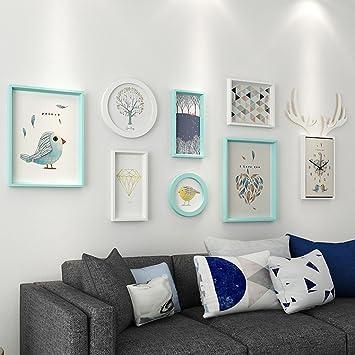 &Dekorative Wände Moderne Massivholz Bilderrahmen Wand Sets Von 6 ...