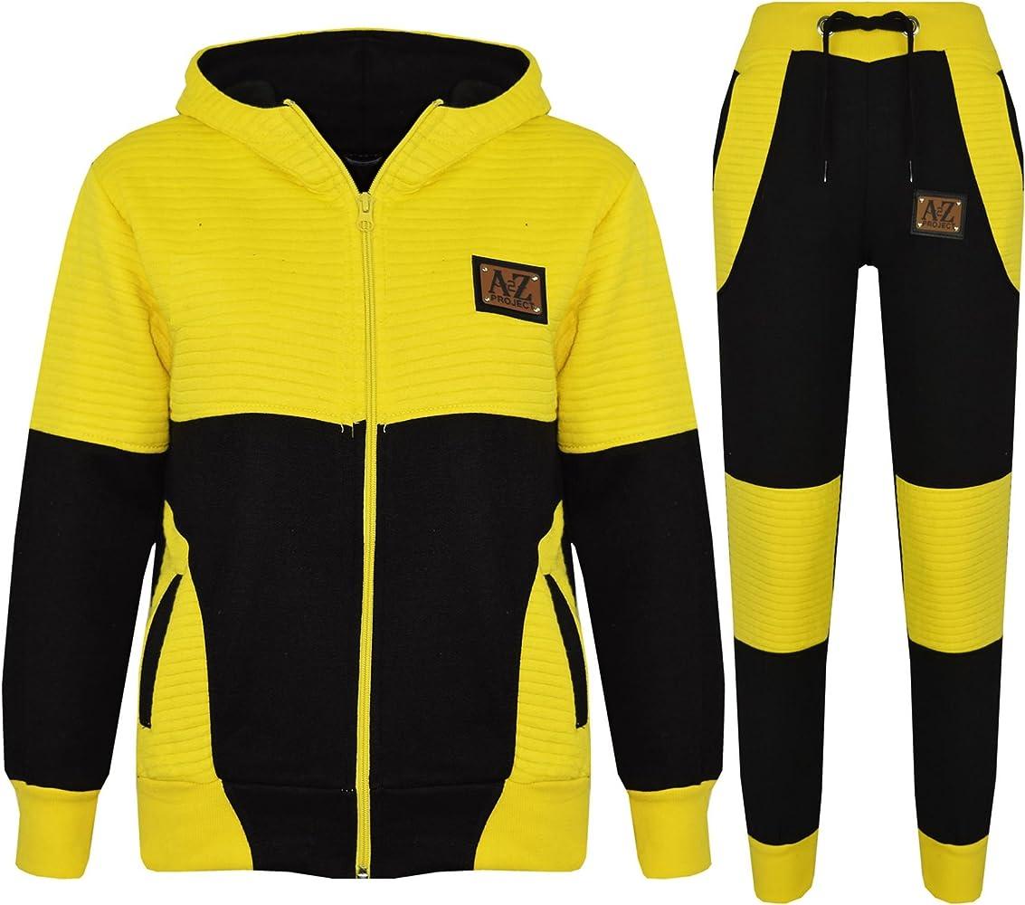 A2Z 4 Kids® - Chándal - para niño Multicolor Black & Yellow 11-12 ...