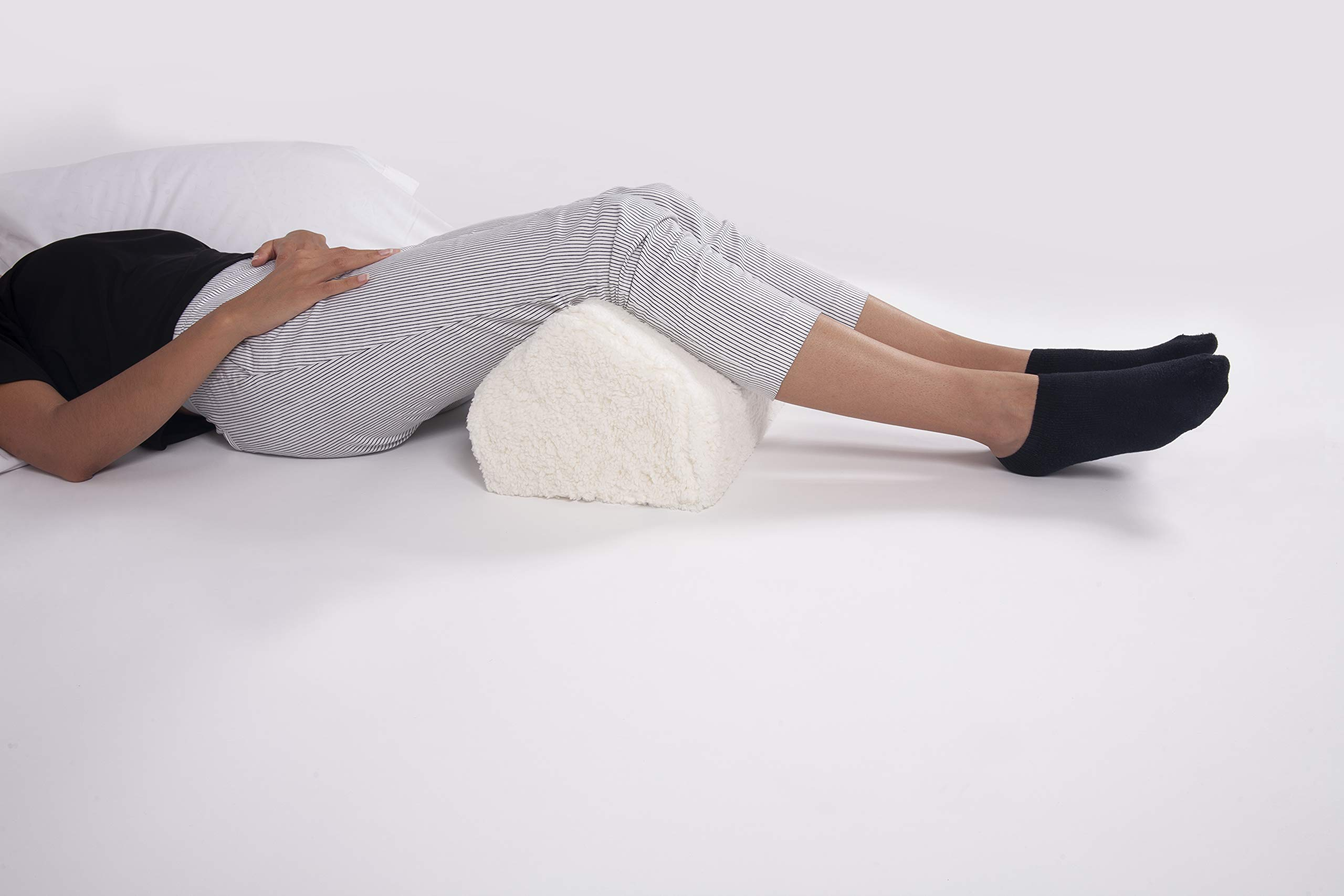 North American Health and Wellness Leg Lifter Pillow - Elevate Legs Back Pressure Relief - Machine Washable Fleece Cover