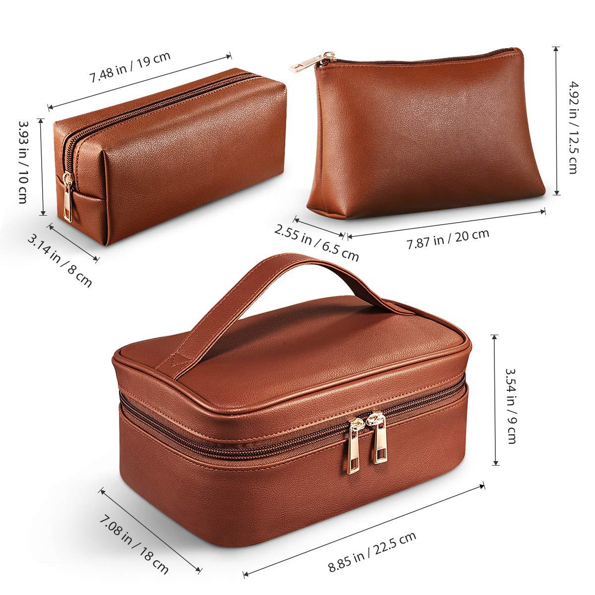 Makeup Bags, Cosmetic Bag 3 Packs Travel Makeup Bag Portable Makeup Bag Organizer