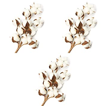 10 pieces of wreaths natural and synthetic blend cotton bolls balls L