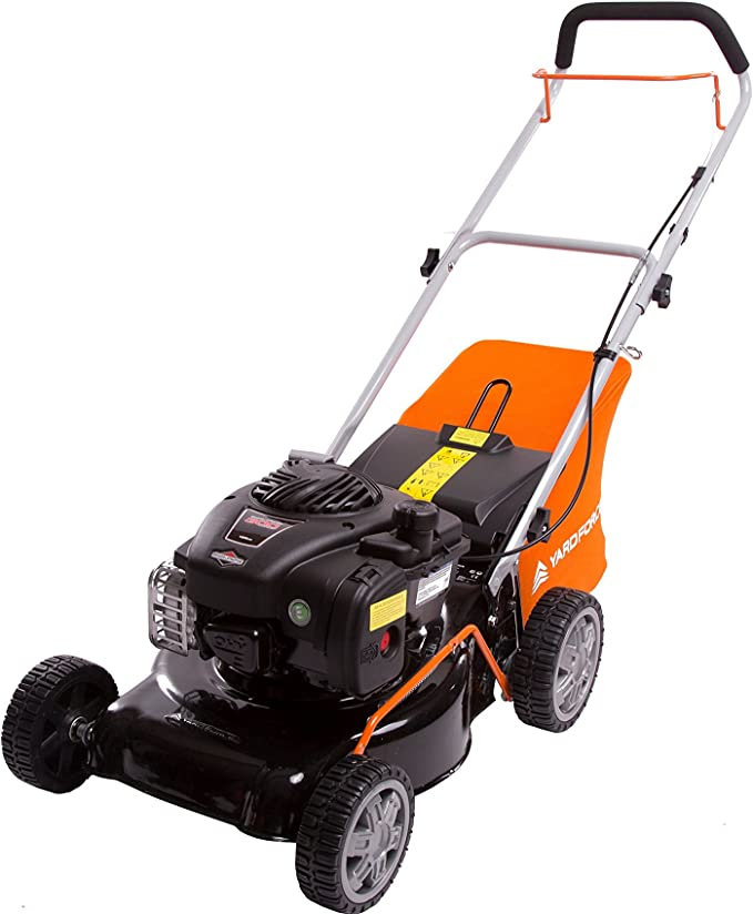 Yard Force 41cm Hand Push Petrol Lawnmower - Best Quiet Operator
