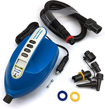 Electric Air Pump Intelligent 20PSI for Inflatable SUP Paddle Board 12V UK E5U6