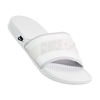 sports shoes e7bf2 22c3b Nike Men s Benassi JDI Tivek Slides White Size 12 US