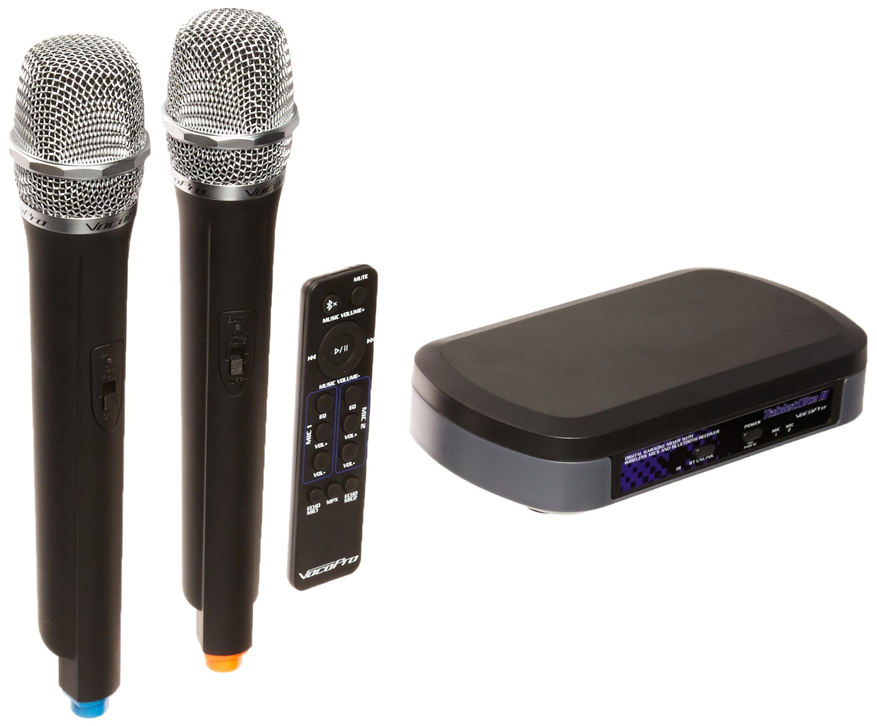 VocoPro Digital Karaoke Mixer with Wireless Mics and Bluetooth Receiver (TabletOke-II)
