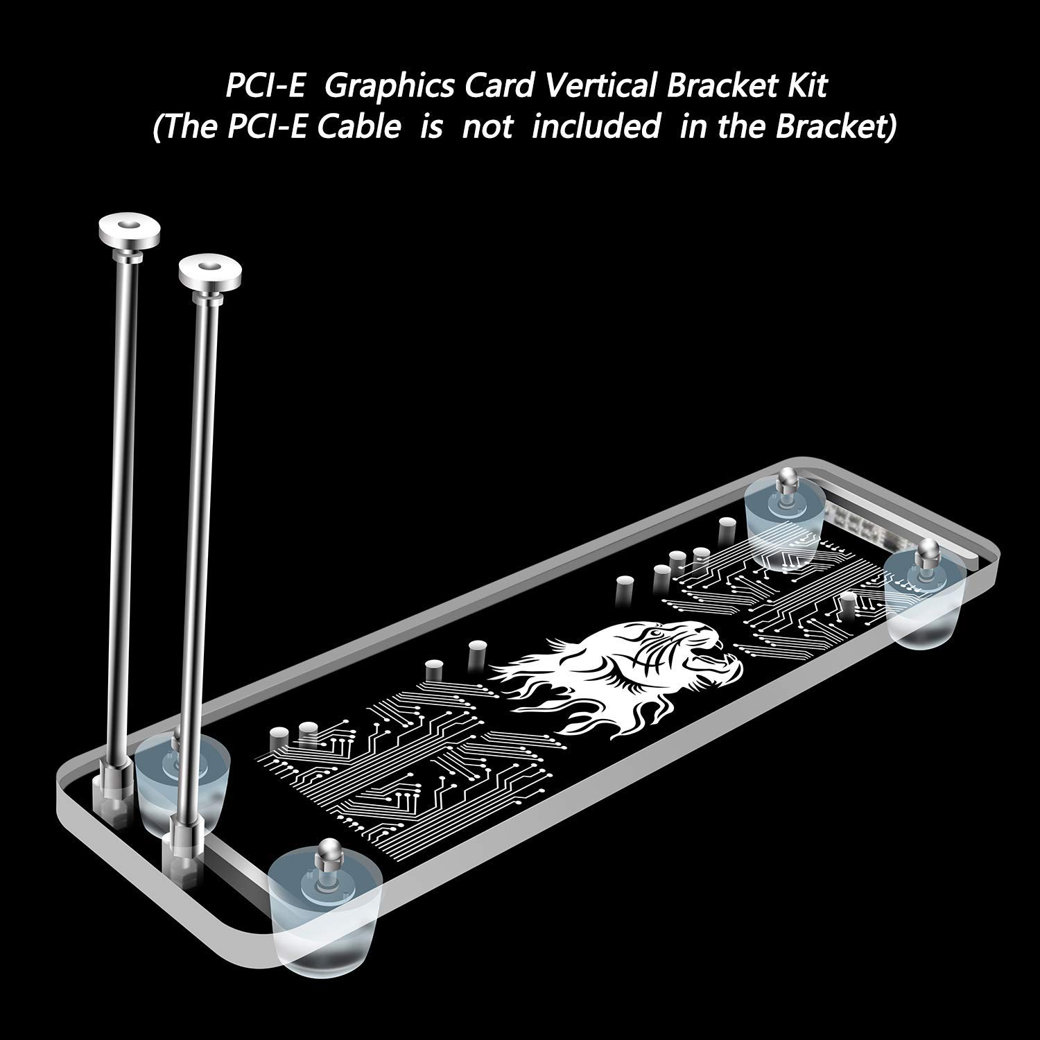 PCI- E 3.0 16X Graphics Card Vertical Kickstand/Base with RGB LED Light for DIY ATX case(DIY ATX case) by Timack