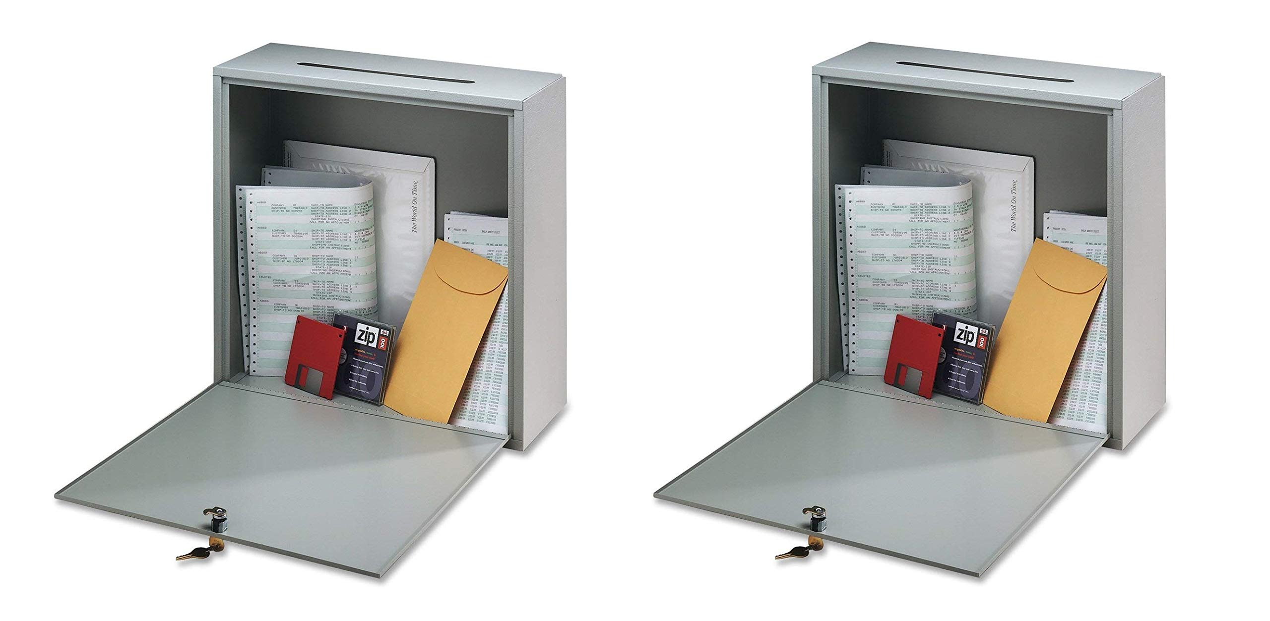 Buddy Products Inter-Office Mailbox, Steel, Small, 3 x 10 x 12 inches, Platinum (5625-32) (Pack of 2)