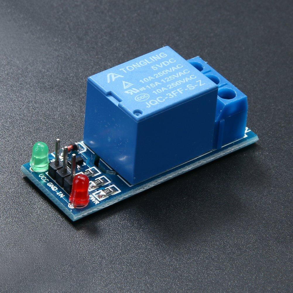 Everpert 2 st/ücke 1 Kanal DC 5V Relaisschalter Modul f/ür Arduino Raspberry Pi ARM AVR