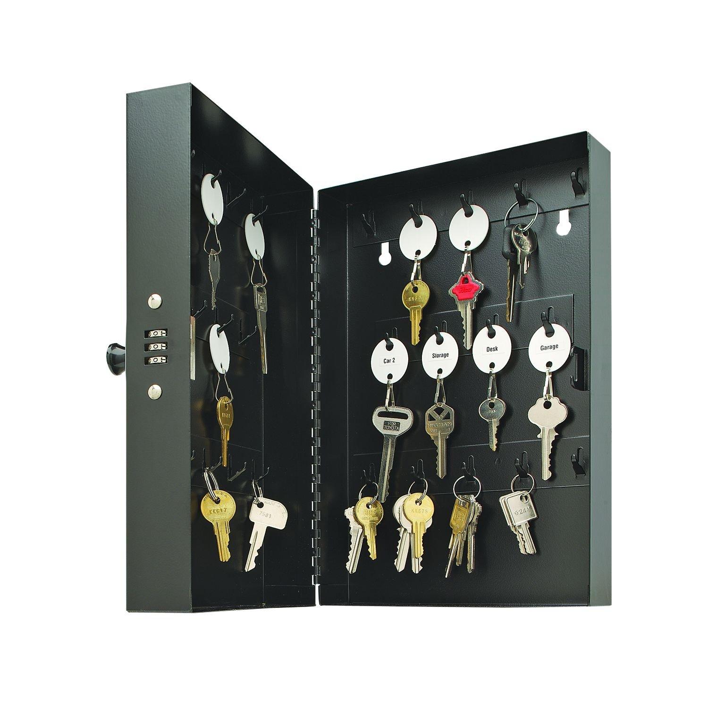 MMF Industries 28-Key Hook-Style Steel Key Cabinet with Key Lock (201202804)