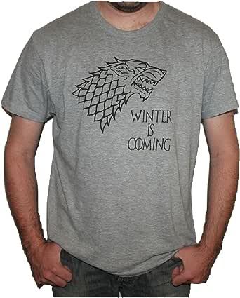 Camiseta Juego DE Tronos CASA Stark Winter IS Coming (M
