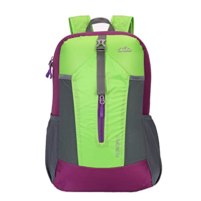 chic Tisomen 20L Durable and Foldable Hiking Daypack Packable Water Resistant Travel Backpack For Men & Women