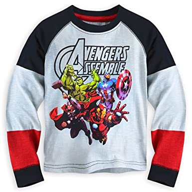 96eeaf0b7b0 Image Unavailable. Image not available for. Color  Disney Store Marvel  Avengers Boy Long Sleeve T Shirt ...
