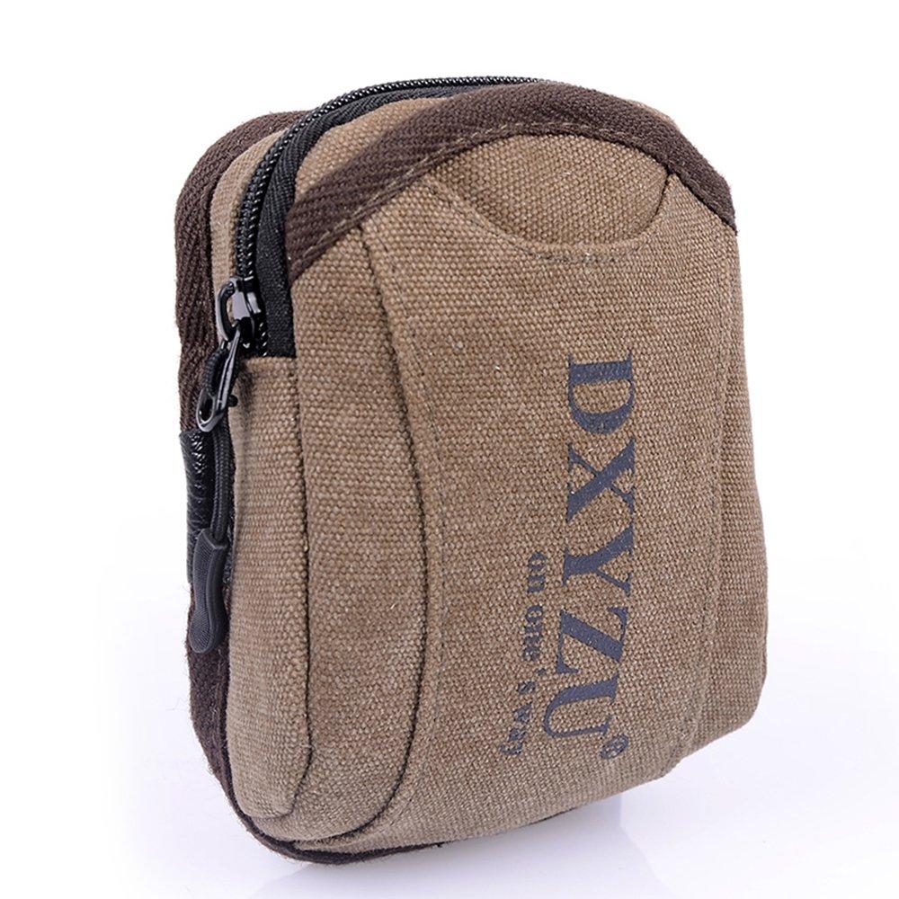 Meanhoo Extreme Zipper Waist Bag Outdoor Sports Fanny Pack Waist Pack Pouch Hip Belt, Running Belt Bag Pouch Fanny Pack for Hiking Cycling Climbing Travel - coffee