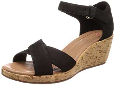 457880a2b4b9 Clarks Women s Un Plaza Cross Nubuck Black Leather Fashion Sandals-8  UK India (42 EU) (91261336594080)  Buy Online at Low Prices in India -  Amazon.in