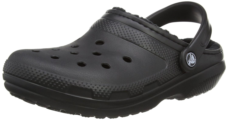 Schwarz(schwarz schwarz 060) crocs Unisex-Erwachsene Classic Lined Clogs