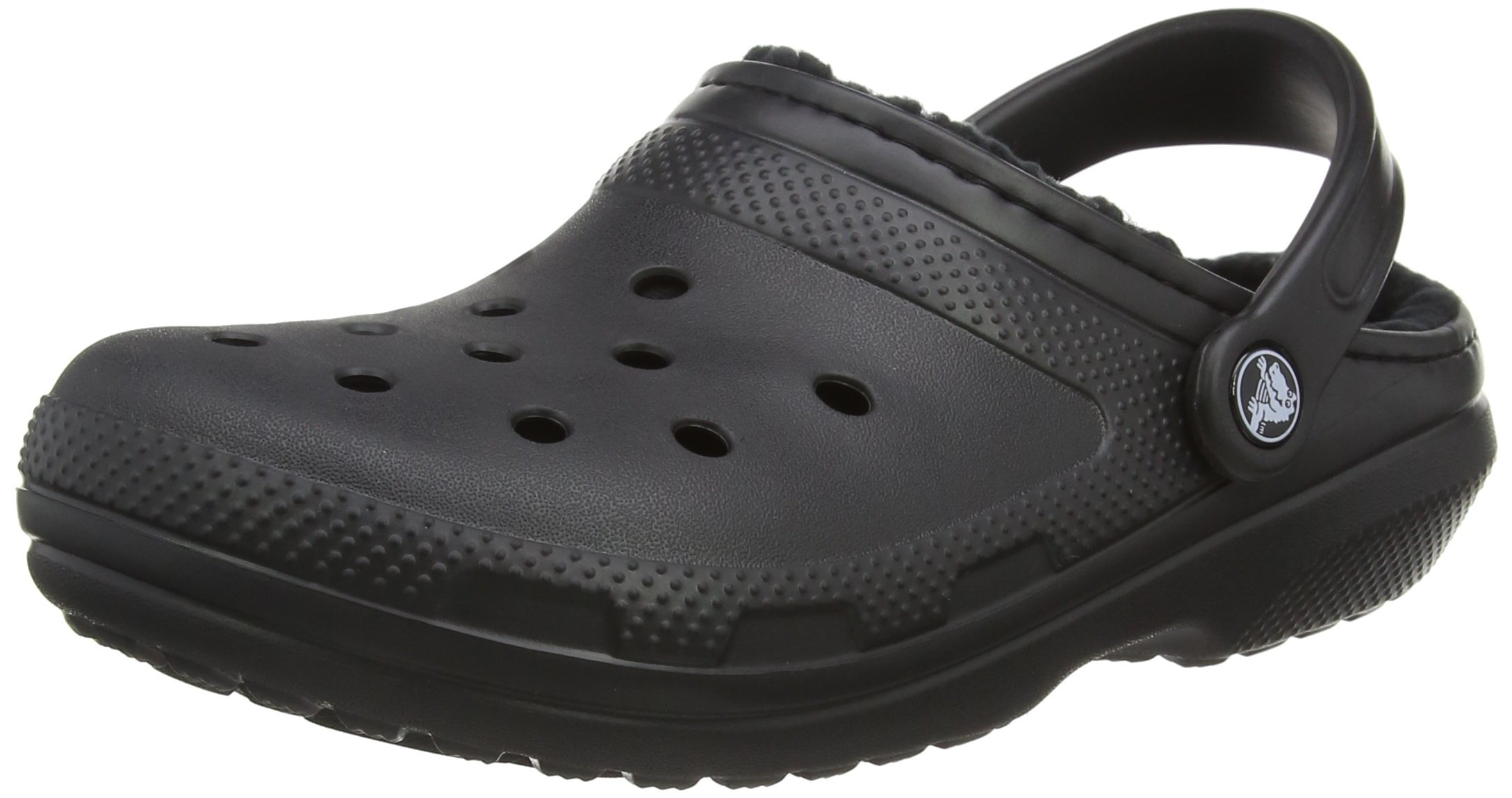Crocs Unisex Classic Lined Clog,Black/Black,10 US Men / 12 US Women by Crocs