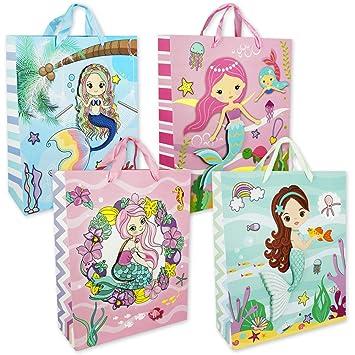 PM6722 - Bolsas de regalo cumpleaños, diseño sirenas, 6 ...