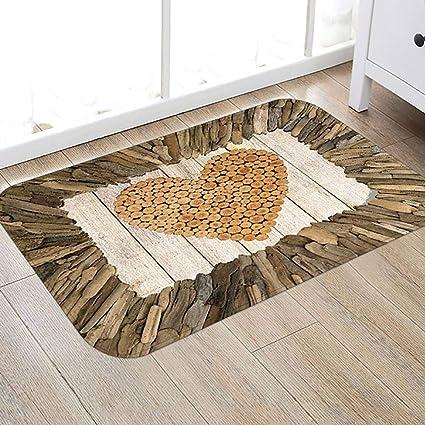 3D Home Print Thick Flannel Non-slip Door Mat Floor Mat Rug Carpet Kitchen Bath