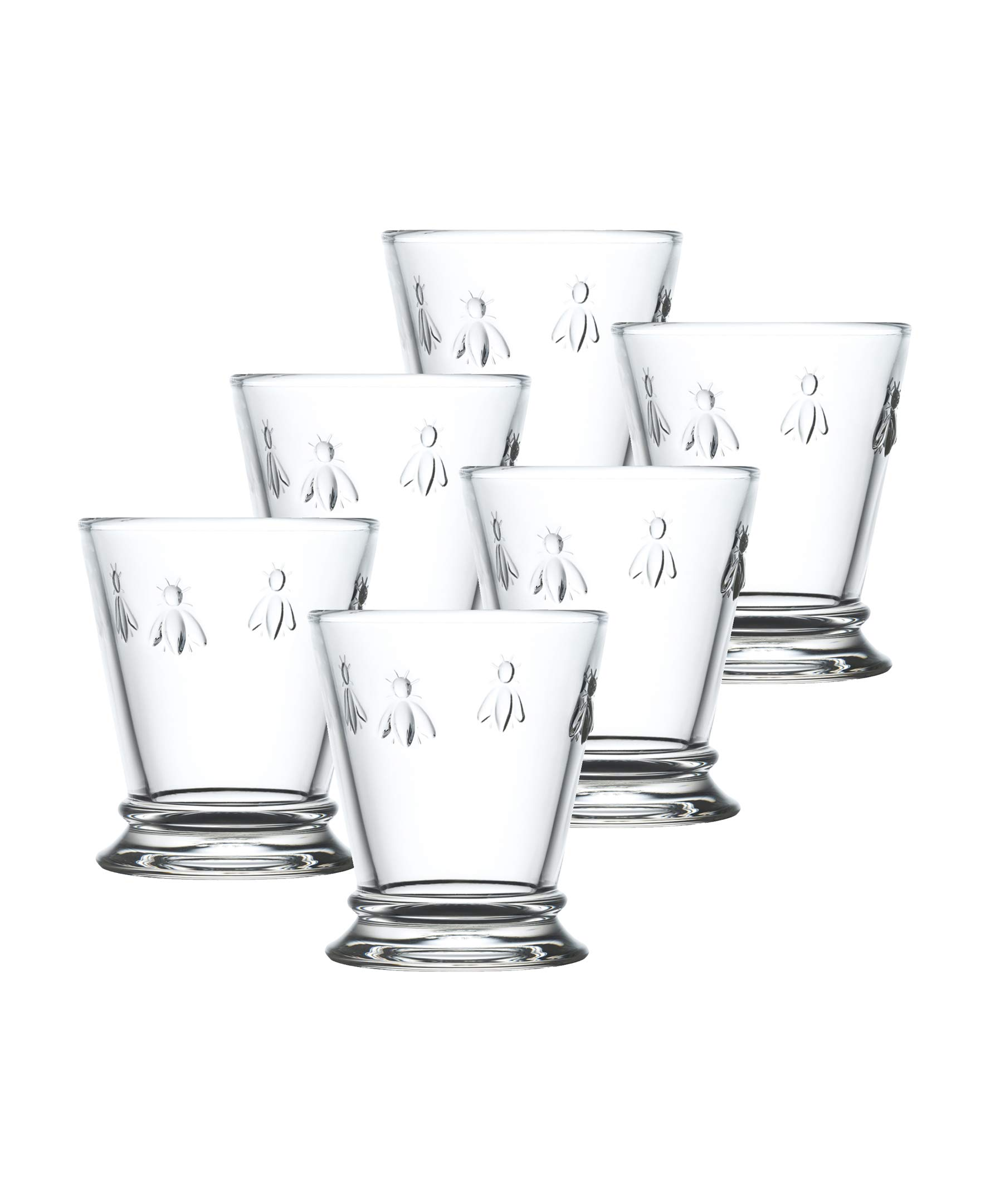 La Rochere Set Of 6,10-ounce Napoleon Bee Tumblers, Clear by La Rochere