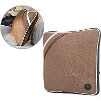 Semme USB Rechargeable Soft Cotton Neck Back Cushion Massager (Linen Brown)