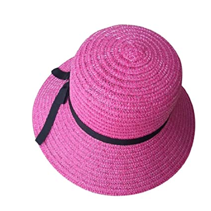 79348de462cfe6 Image Unavailable. Image not available for. Color: ShenPourtor Women/Lady  Summer Cool Wide Brim Straw Sun Hat Floppy Foldable WIth Stylish Butterfly