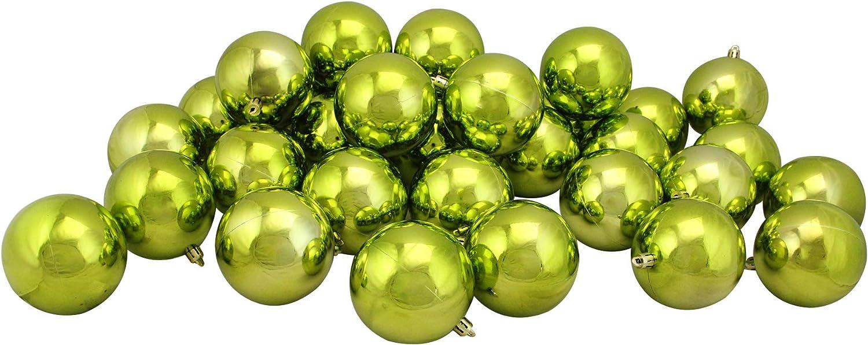 Amazon Com Northlight 32ct Kiwi Green Shatterproof Shiny Christmas Ball Ornaments 3 25 80mm Home Kitchen