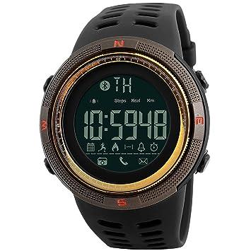 Modiwen Reloj digital inteligente deportivo para hombres, moda, Bluetooth, calorías, podómetro, cronógrafo, para exteriores, resistente al agua 5 bar, reloj ...