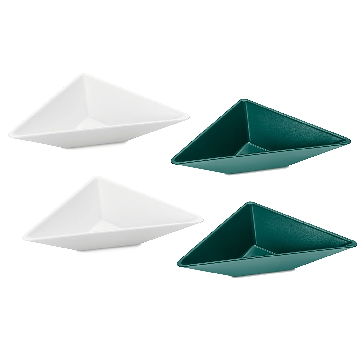 Koziol 3482386 Tangram 1 Serving Bowl Set, One Size, cotton white-emerald green/jungle green
