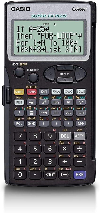 Casio FX-5800P - Calculadora programable, 15.1 x 81.5 x 163 mm ...