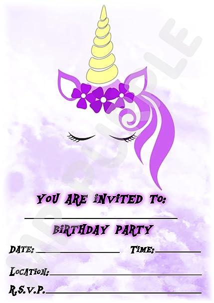 Invitaciones de cumpleaños infantiles con diseño de ...