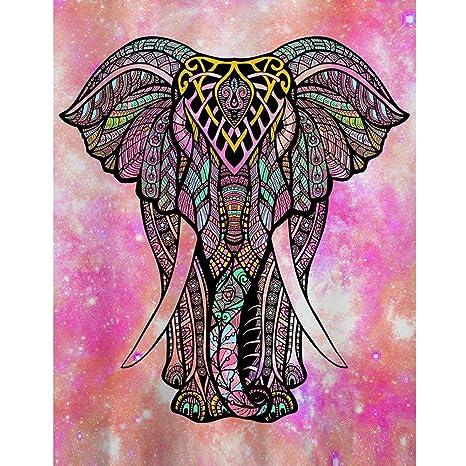 Amazon.com: Tapiz de elefante para colgar en la pared ...