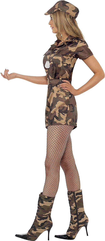 Smiffys-28864XS Disfraz de Mujer Soldado Sexy, Camuflaje, con Mono ...
