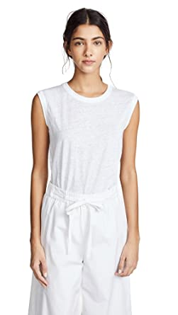 0500f68db Amazon.com: Vince Women's Muscle Tank Top Optic White X-Large: Clothing