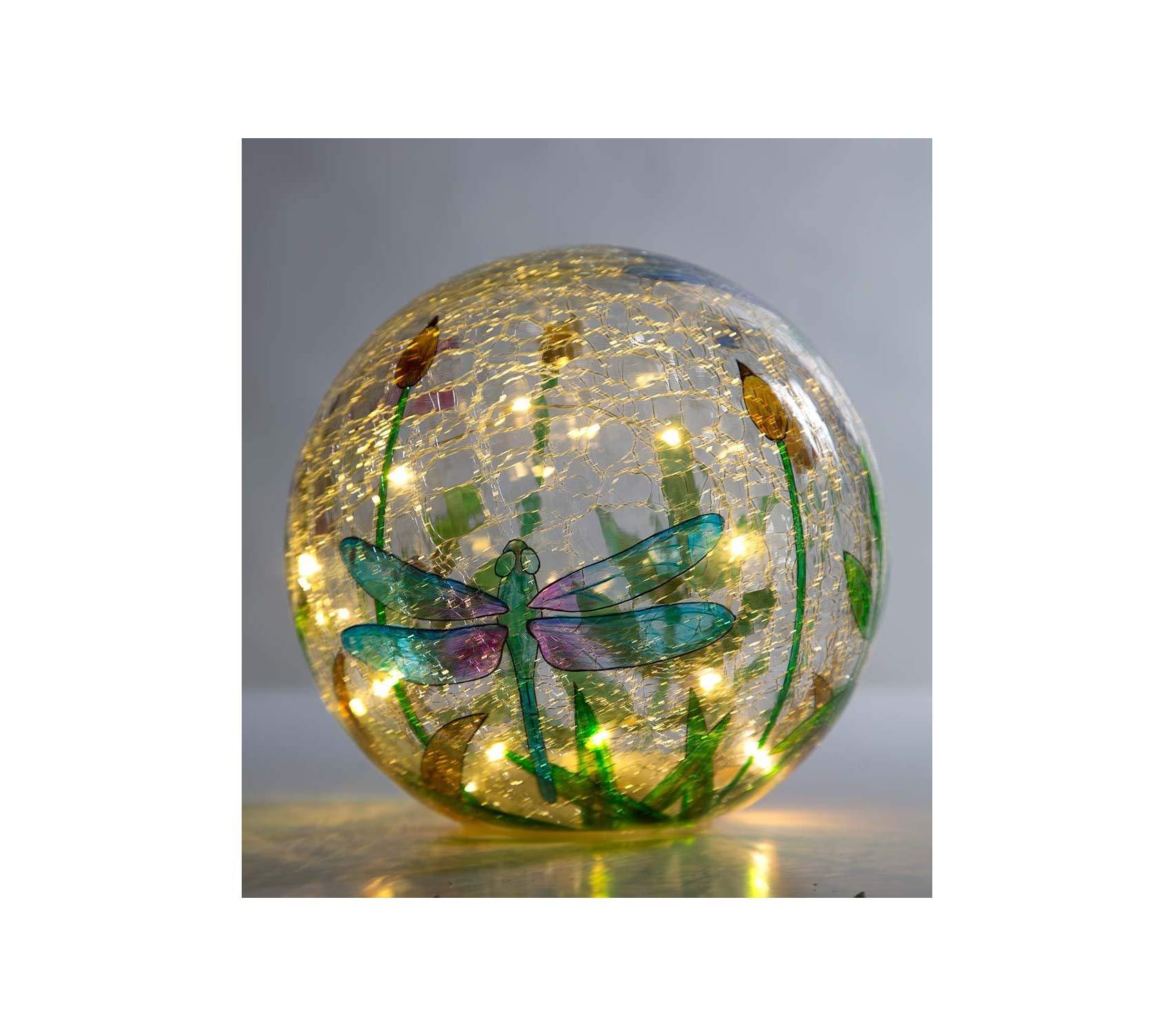 Outdoor Garden Backyard Décor Crackle-Glass Balls, Set of 3 Yard Art, Multi-Colored by Garden Décor (Image #3)