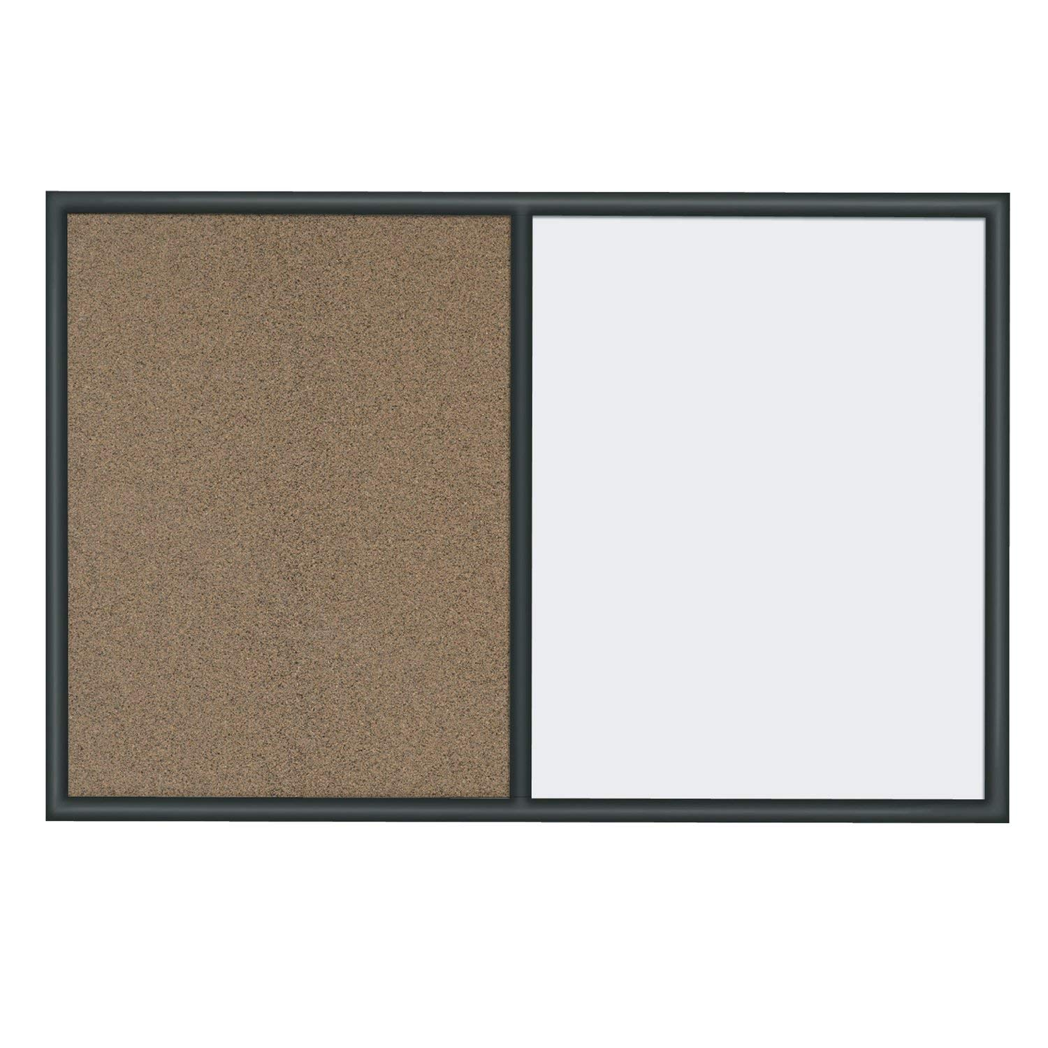 Quartet Whiteboard and Colored Cork Combination Board, 2 x 3 Feet, Black Frame (S563)