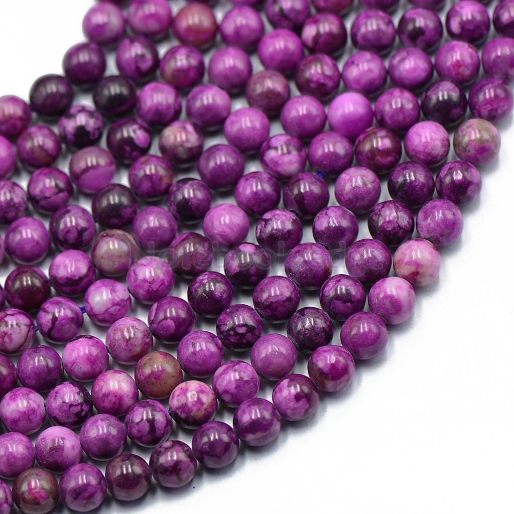 6mm Purple Charoite Gemstone Round Loose Bead 15'' Jewelry Finding Craft DIY notebook.edge