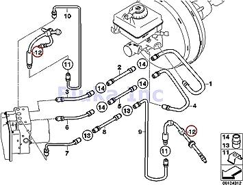 2007 bmw 525i brake diagram amazon com bmw oem brake pipe hose front left right 525i 530i  bmw oem brake pipe hose front left