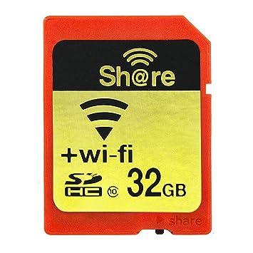 GuDoQi Wireless WiFi Tarjeta SD 32Gb SHDC Clase 10 Tarjeta De ...